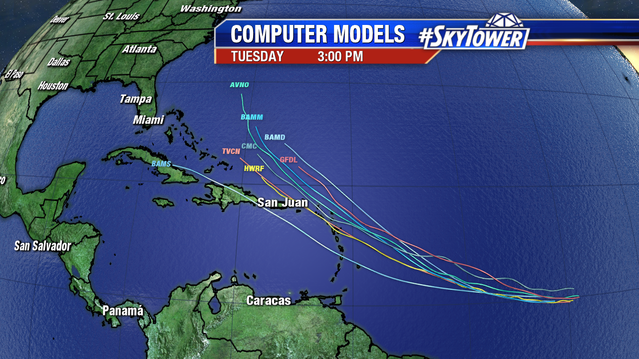 Invest 93L Models with Satellite