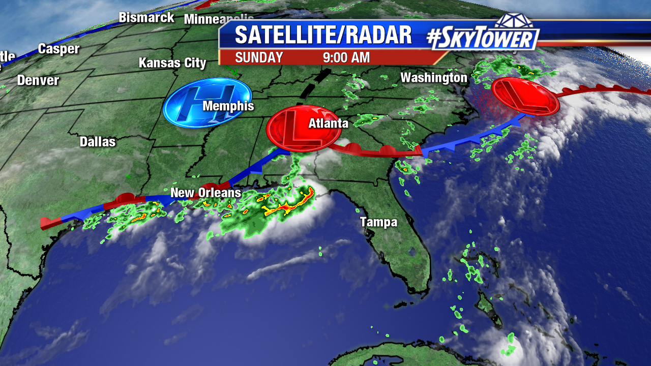 Southeast Satellite-Radar Weekend AM