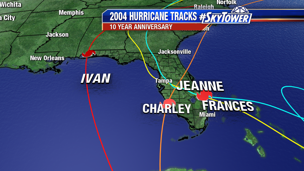 2004 Hurricane Season Tracks and Facts 2