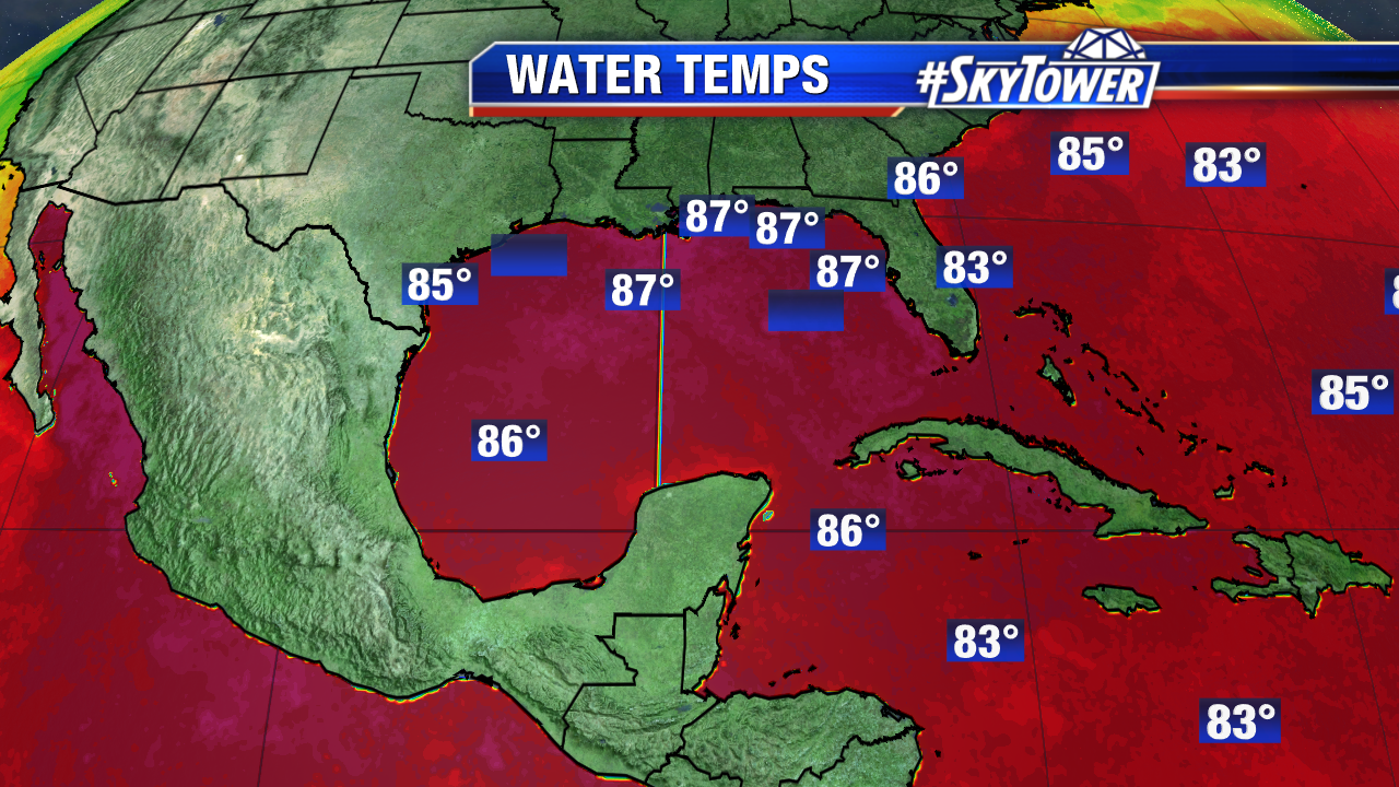 Gulf of Mexico Water Temperatures