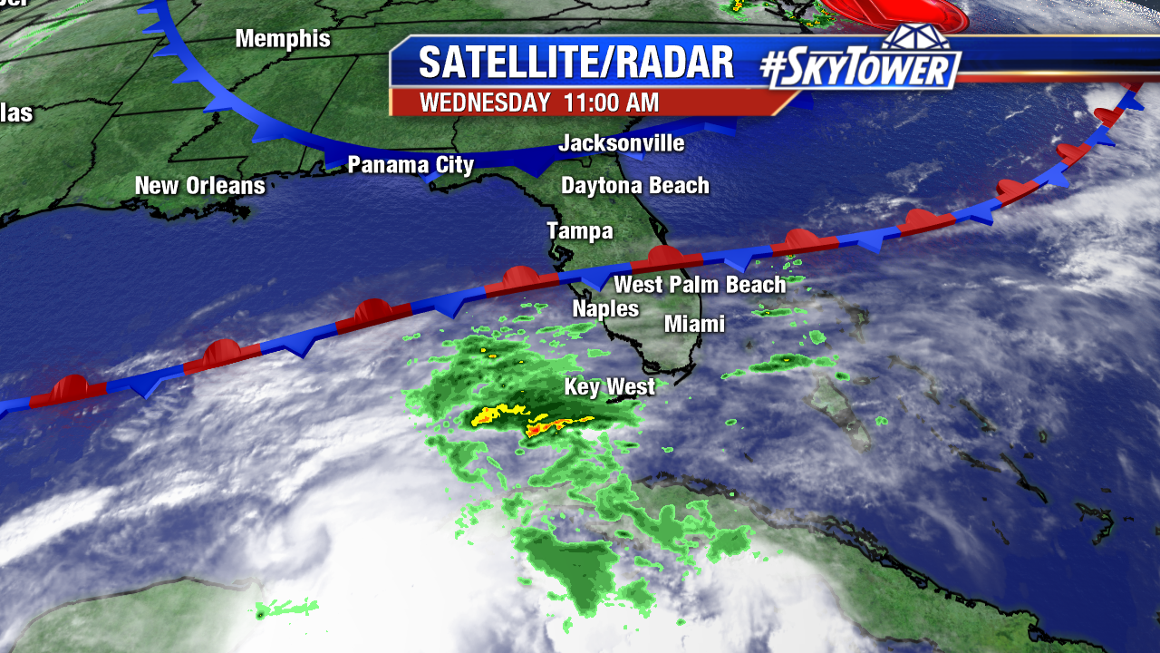 Florida Satellite-Radar Weekend AM