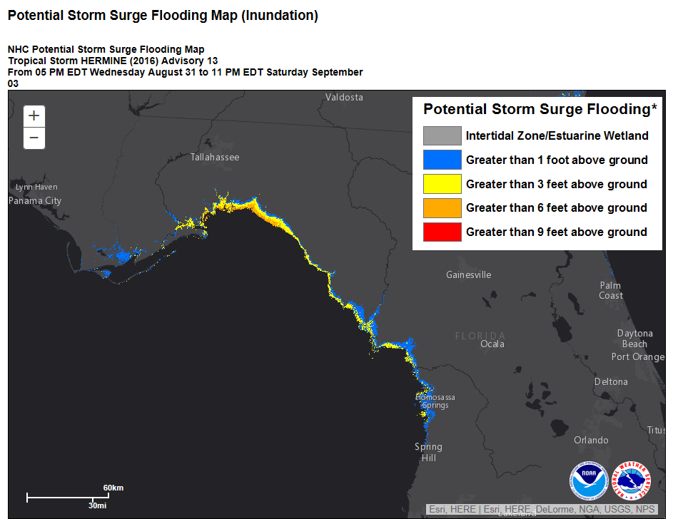 storm surge inundation wide view